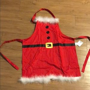Santa Apron with Fur Kitchen